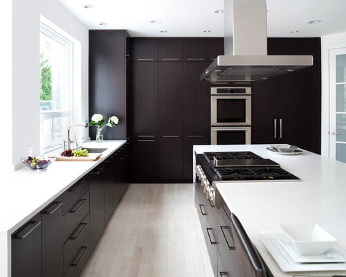 saveemail. image of kitchen design with dark cabinets. dark mixed