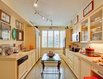 Modern Transitional Buttermilk Yellow Kitchen