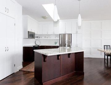 Modern Two-Tone Kitchen...a fresh update!