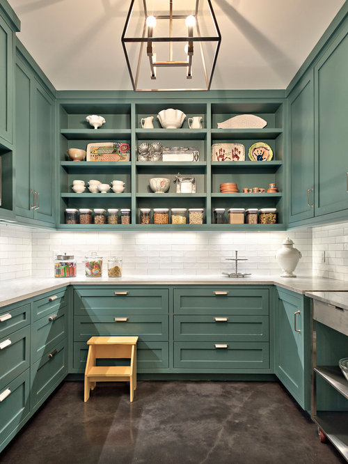 Turquoise Kitchen Cabinets Houzz