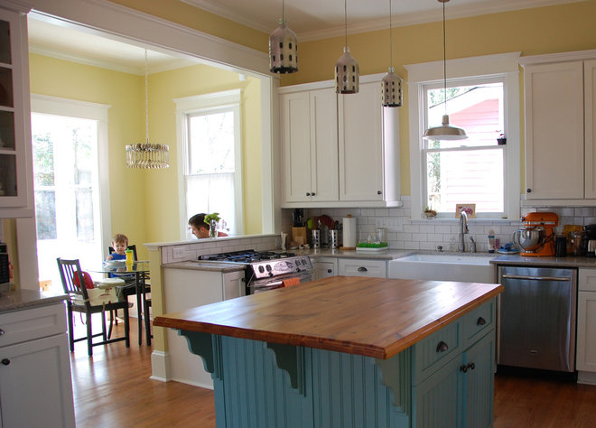Eclectic Kitchen by Four over One Design