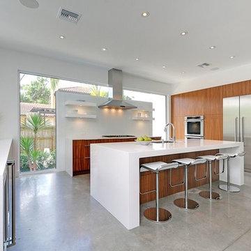 Modern Walnut Kitchen
