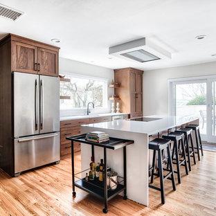 Modern Walnut Shaker Kitchen