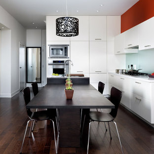 White Accent Wall | Houzz on ideas for kitchens with oak cabinets, ideas for kitchens with island, ideas for kitchens with grey wall paint, ideas for kitchens with glass door cabinets, kitchen remodel white cabinets,