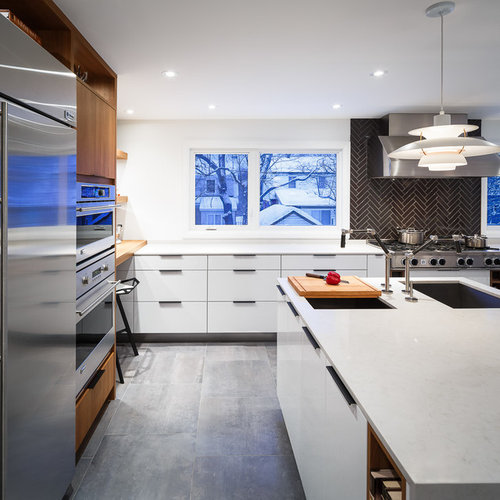 Kitchen Design Ottawa: Award-Winning Modern White Kitchen By Astro Design. Ottawa