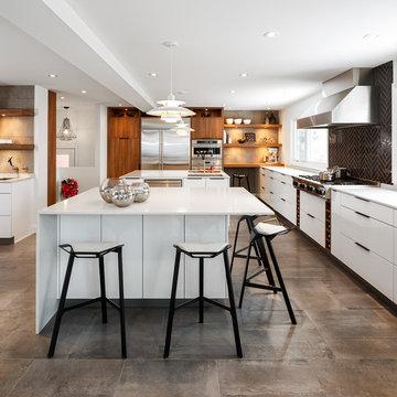 Modern White Kitchen by Astro Design. Ottawa