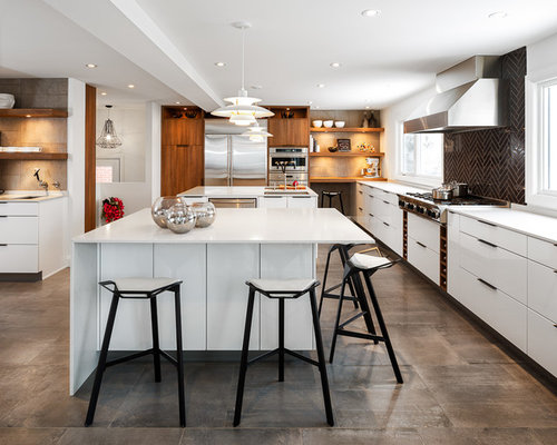 modern white kitchen ideas, pictures, remodel and decor,