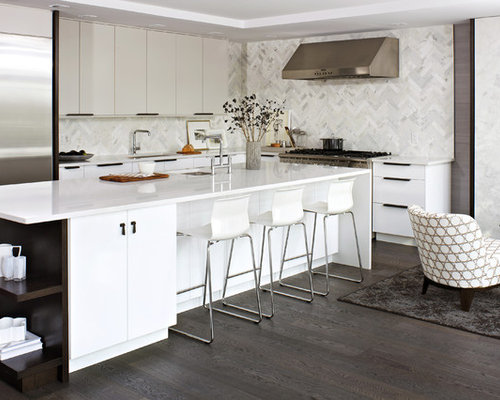 Modern White Kitchen Houzz