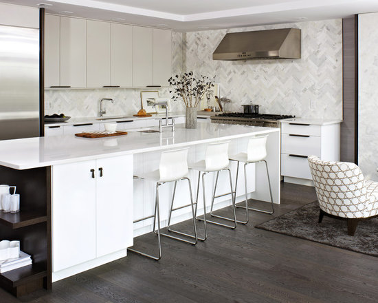 Contemporary White Kitchen modern white kitchen | houzz