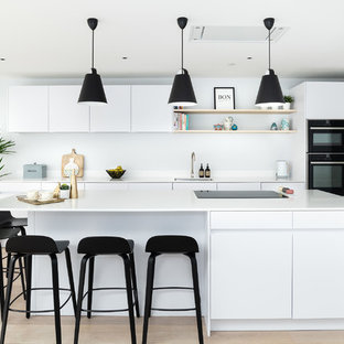 Modern White Kitchen - Parsons Green
