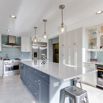 Modern White Kitchen Remodel Arnold, MD