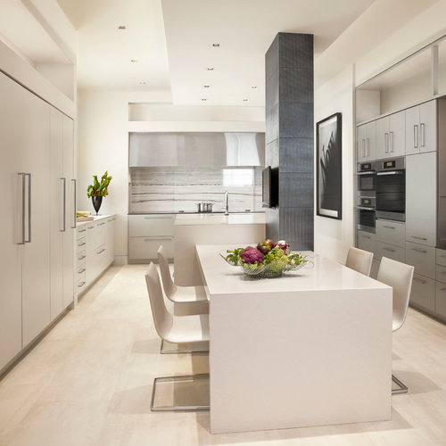 Modern white kitchen home design ideas pictures remodel for Kitchen ideas modern white