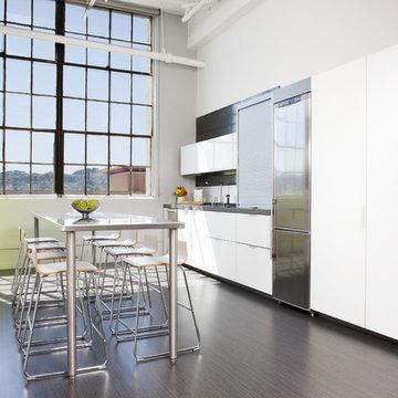 Modern White Loft Kitchen