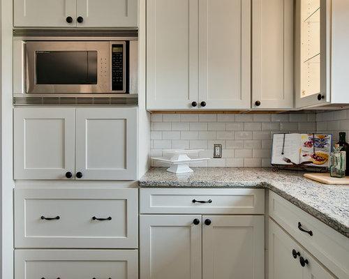 white shaker kitchen houzz