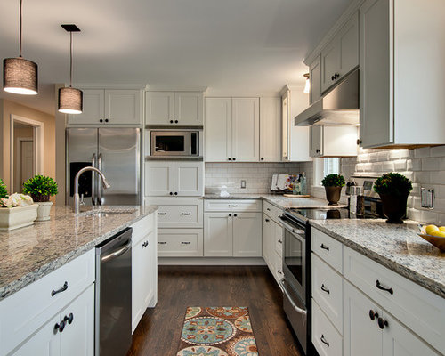 White Shaker Kitchen Home Design Ideas, Pictures, Remodel ...