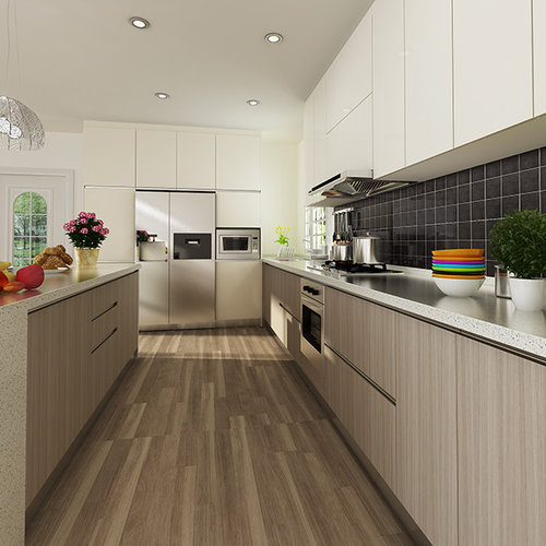 Melamine kitchen cabinets houzz for Modern wood kitchen cabinets