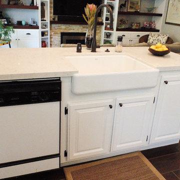 Modest White Martinez Kitchen