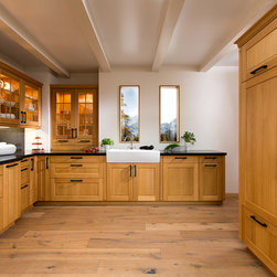 Modular Country Kitchen - Cabinets are honey oak