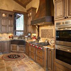 Rustic Kitchen by Terra Firma Custom Homes