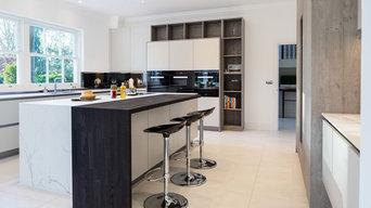 Monochrome & Marble Kitchen