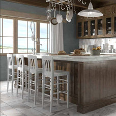 Transitional Kitchen by Cercan Tile Inc.