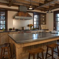 Rustic Kitchen by Brooks and Falotico Associates, Inc.