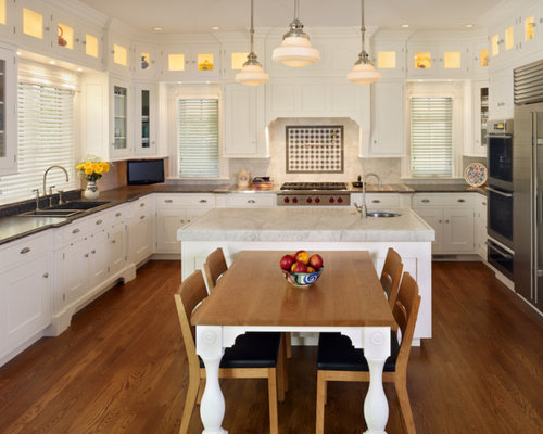 Kitchen Island With Dining Table Attached