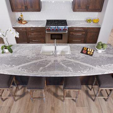 Monte Cristo Satin Granite Kitchen Island Countertop