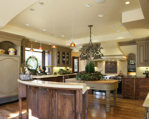 Inspiration for a rustic kitchen remodel in San Francisco with wood  countertops