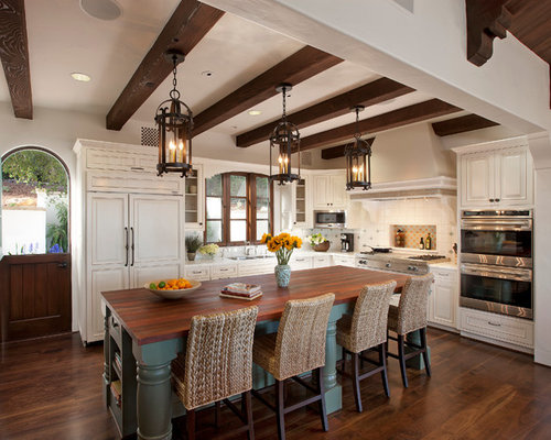 Dark Stained Wood Beams | Houzz