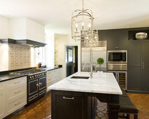 mediterrane k chen mit schrankfronten im shaker stil ideen. Black Bedroom Furniture Sets. Home Design Ideas