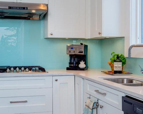 Ideas para cocinas | Fotos de cocinas turquesas con salpicadero de ...
