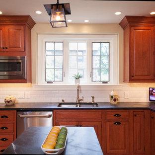 Große Rustikale Küche in Philadelphia
