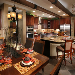 Traditional kitchen photos - Example of a classic kitchen design in Denver