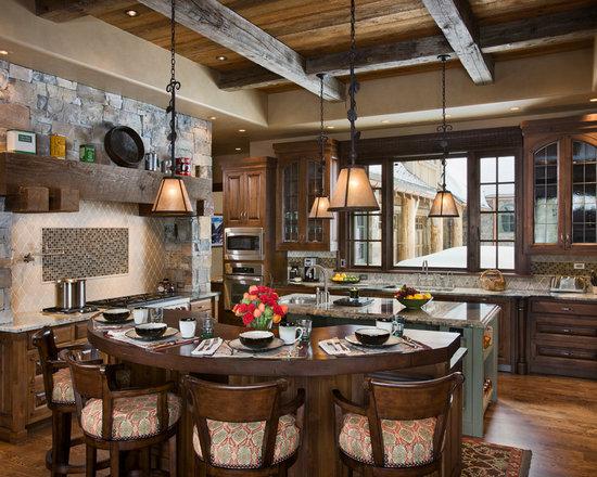 SaveEmail   Dark Wood Kitchen Cabinets Houzz