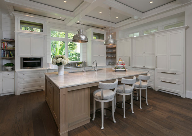 Beach Style Kitchen by Kurtz Homes Naples