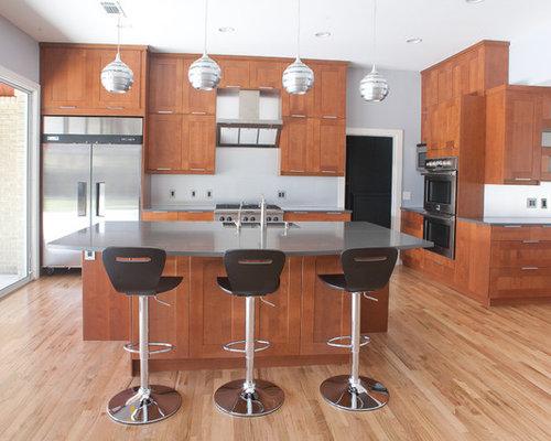 Ideas para cocinas fotos de cocinas con encimera de zinc - Salpicadero cocina ikea ...