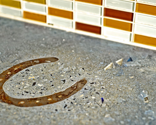 Recycled Glass Concrete Countertops Houzz