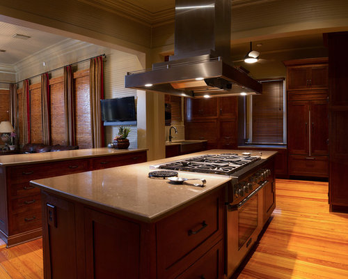 New Orleans Kitchen With Dark Wood Cabinets Design Ideas Remodel Pictures Houzz