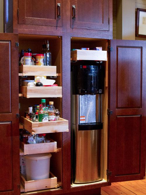 New orleans kitchen with dark wood cabinets design ideas for Kitchen cabinets new orleans