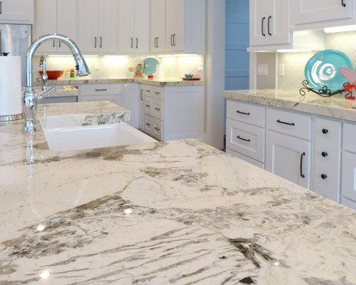 White Granite Countertop Houzz