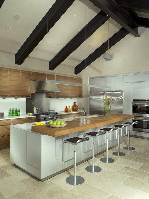 Raised breakfast bar houzz for Morning kitchen designs