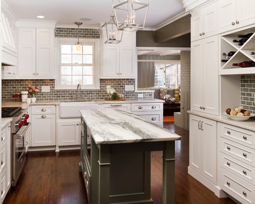 brick tile backsplash houzz