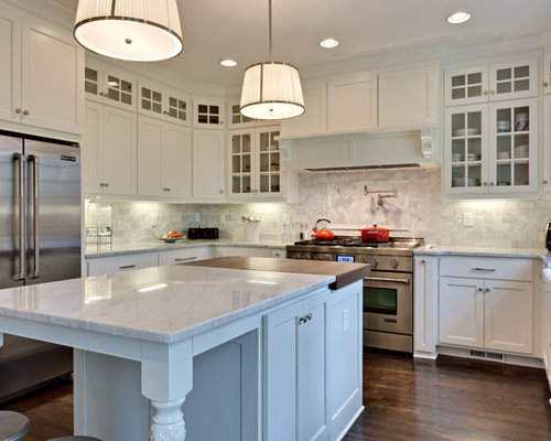 Partial Overlay White Shaker Houzz
