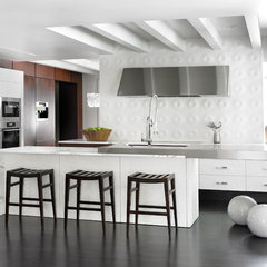 modern kitchen by HammerSmith, Inc
