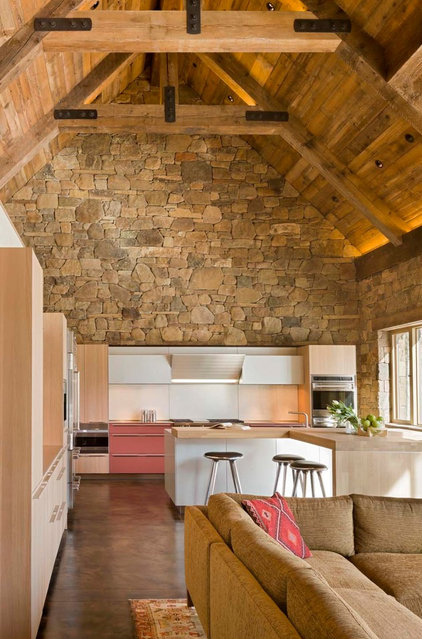 Rustic Kitchen by Zone 4 Architects, LLC