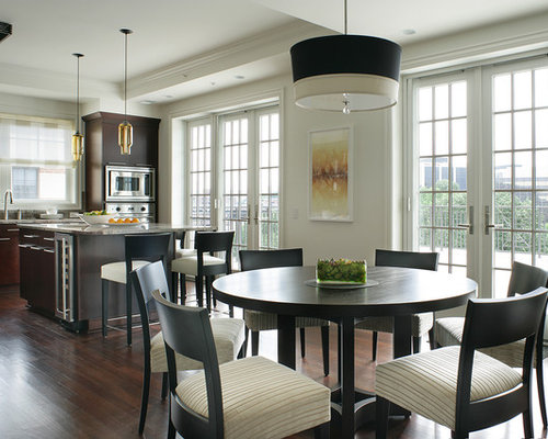mid sized contemporary u shaped eat in kitchen idea in new york with. beautiful ideas. Home Design Ideas