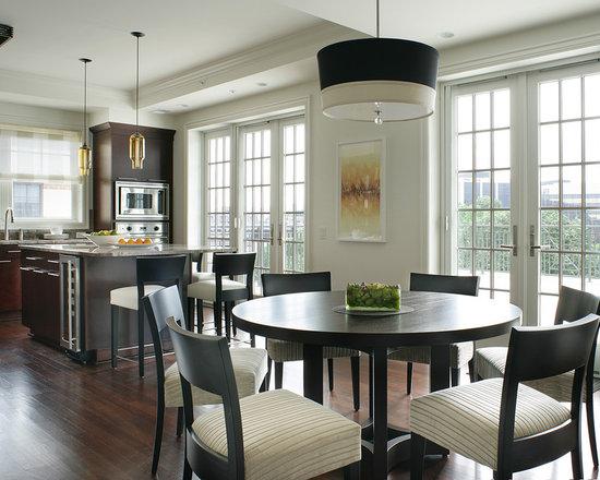 Contemporary Kitchen Table round kitchen table | houzz