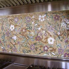 Modern Kitchen by Designer Glass Mosaics