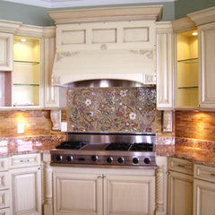 modern kitchen by Designer Glass Mosaics